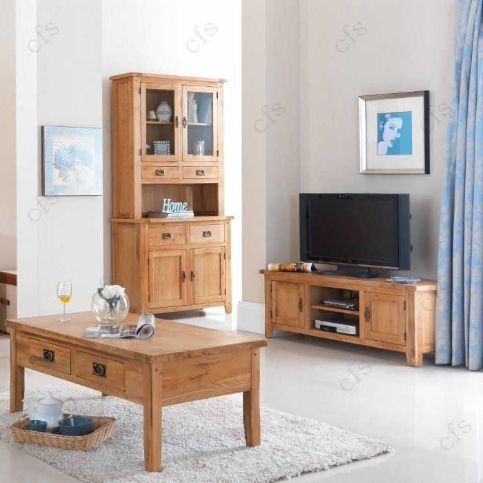 Cherbourg Oak Small Coffee Table with Drawer