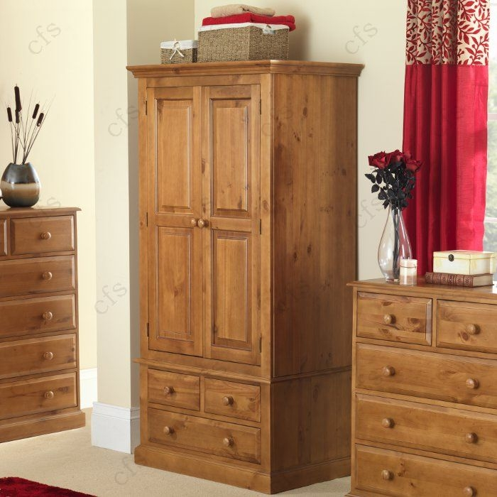 Hendon Pine 2 Door 3 Drawer Wardrobe