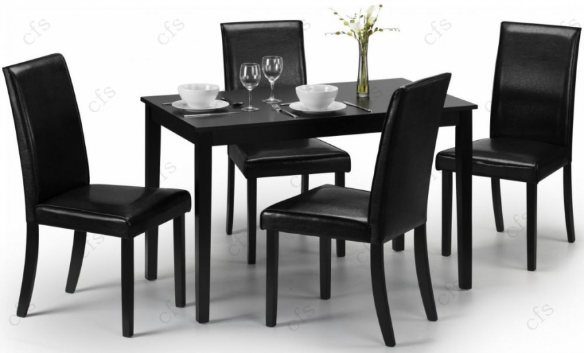 Julian Bowen Hudson Black Lacquered Dining Table