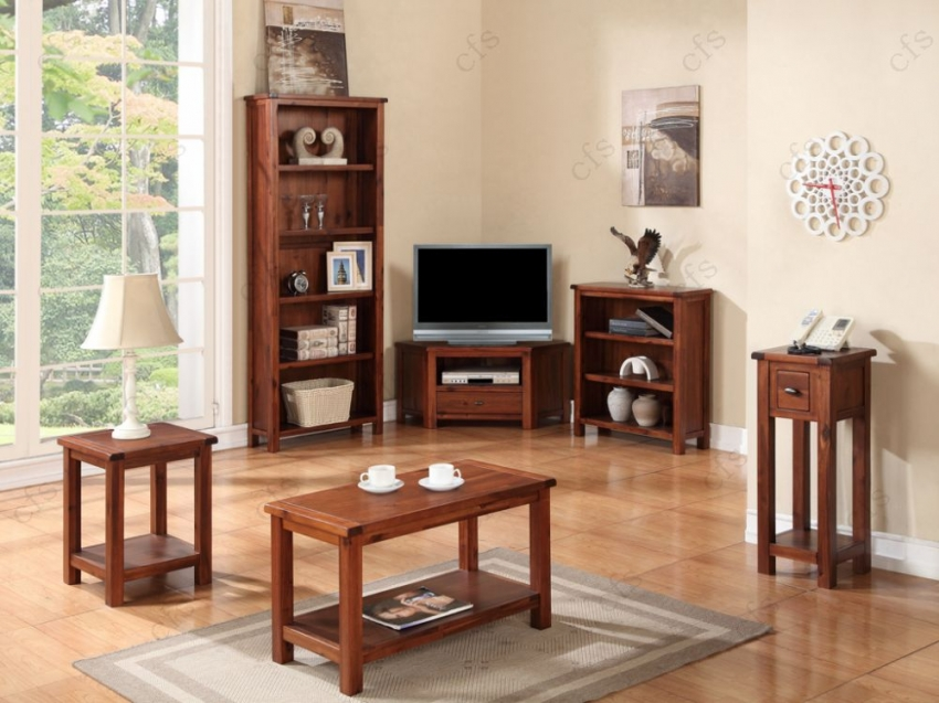 Hartford Acacia Bookcase - Tall