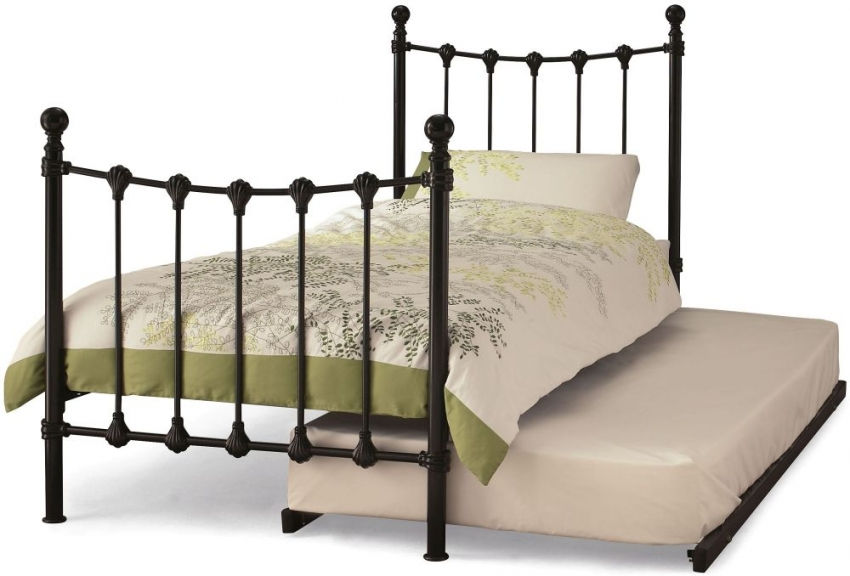 Serene Marseilles Black Metal Guest Bed
