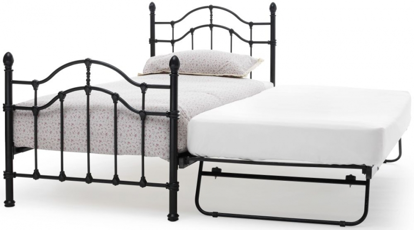 Serene Paris Black Metal Guest Bed