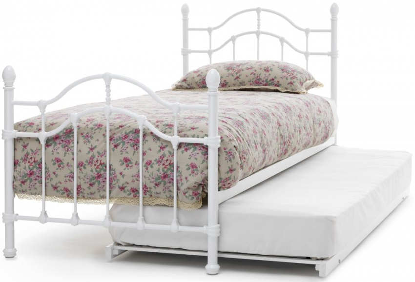 Serene Paris White Gloss Metal Guest Bed