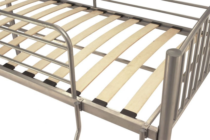 Serene Oslo Silver Metal Twin Bunk Bed