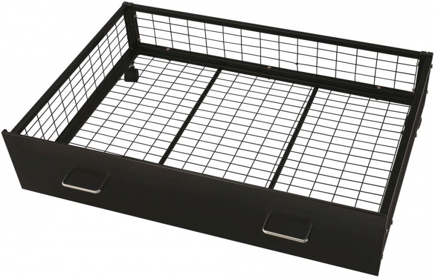 Serene Urban Black Metal Storage Drawer