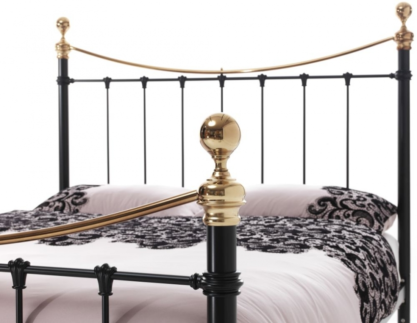 Serene Precious Ethan Black with Brass Metal Bed