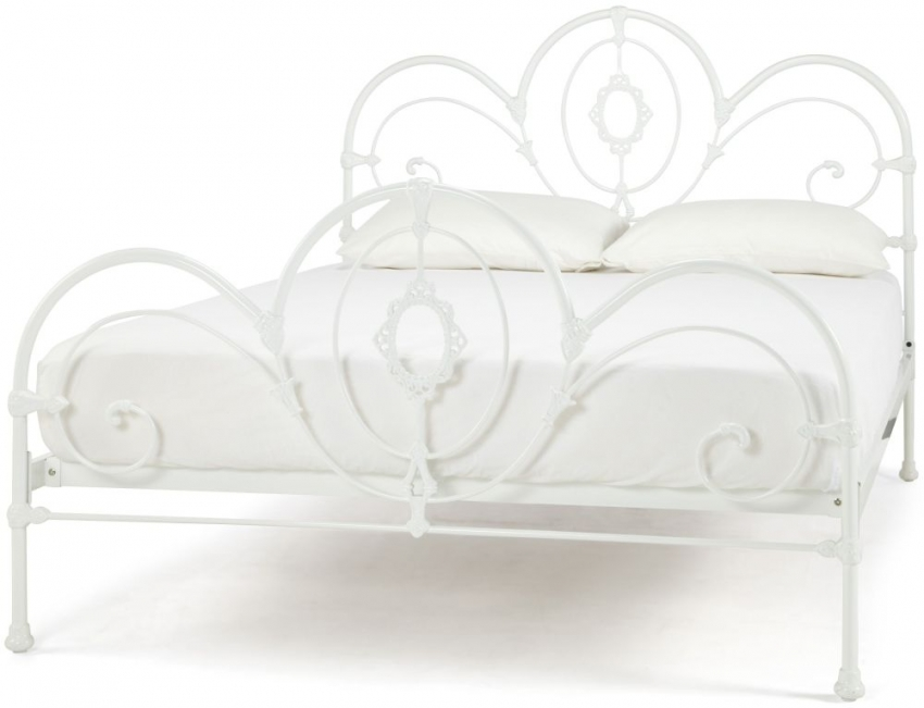 Serene Precious Harriet White Gloss Metal Bed