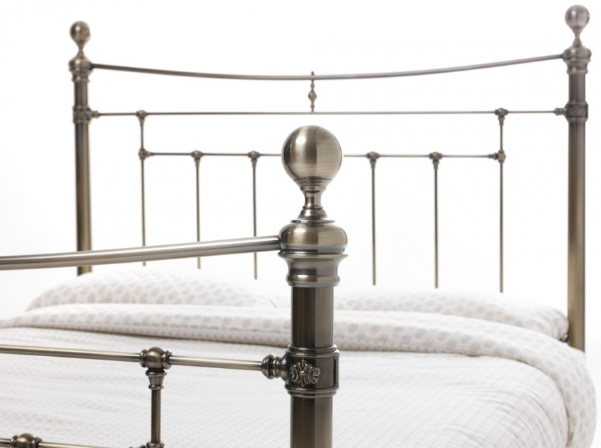 Serene Precious Edmond Antique Brass Metal Bed