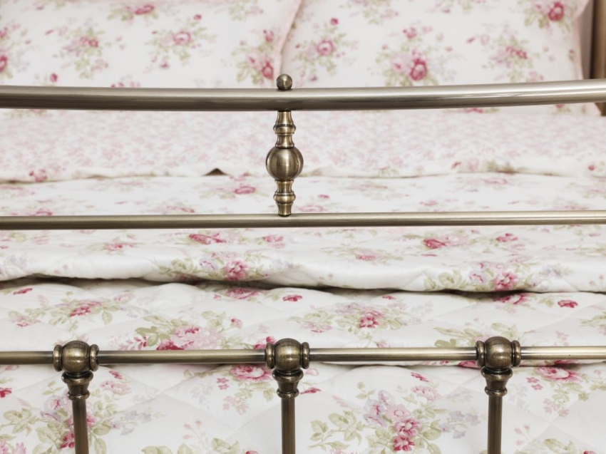 Serene Edmond Antique Brass Metal Bed