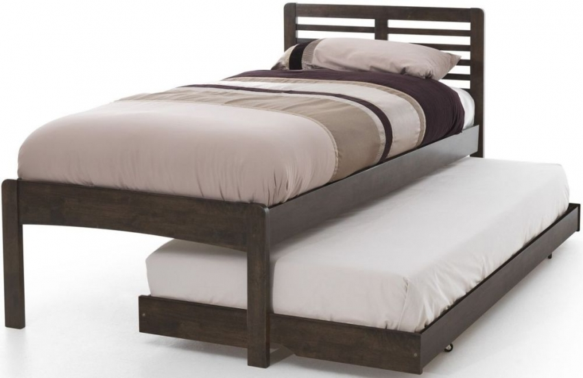 Serene Hevea Wood Esther Walnut Guest Bed
