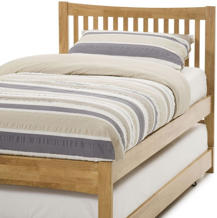 Serene Hevea Wood Mya Honey Oak Guest Bed