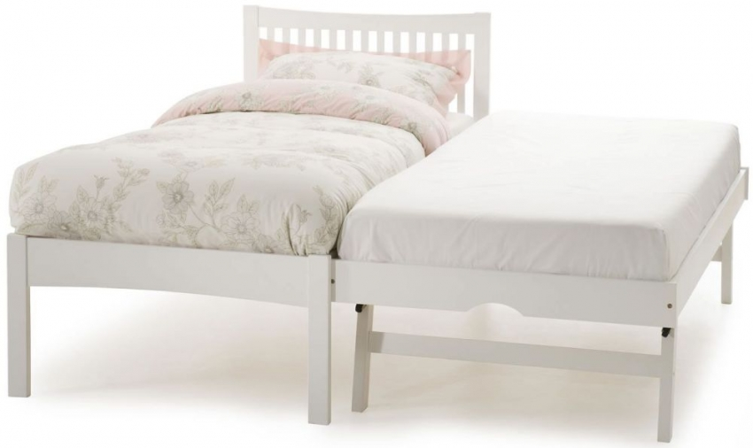 Serene Hevea Wood Mya Opal White Guest Bed