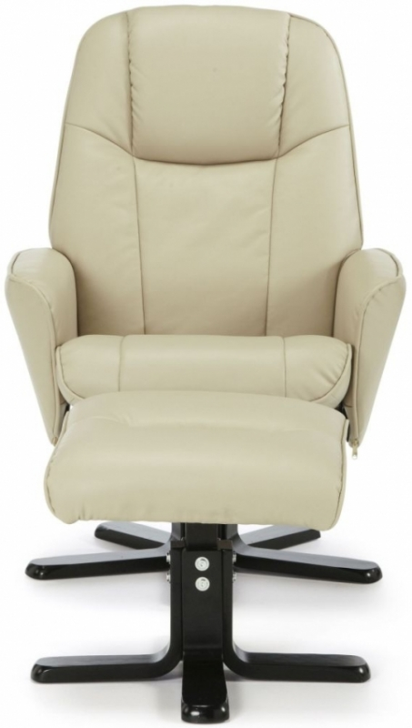 Serene Bergen Mushroom Faux Leather Recliner Chair