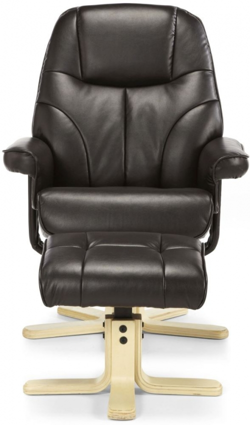 Serene Bodo Brown Faux Leather Recliner Chair
