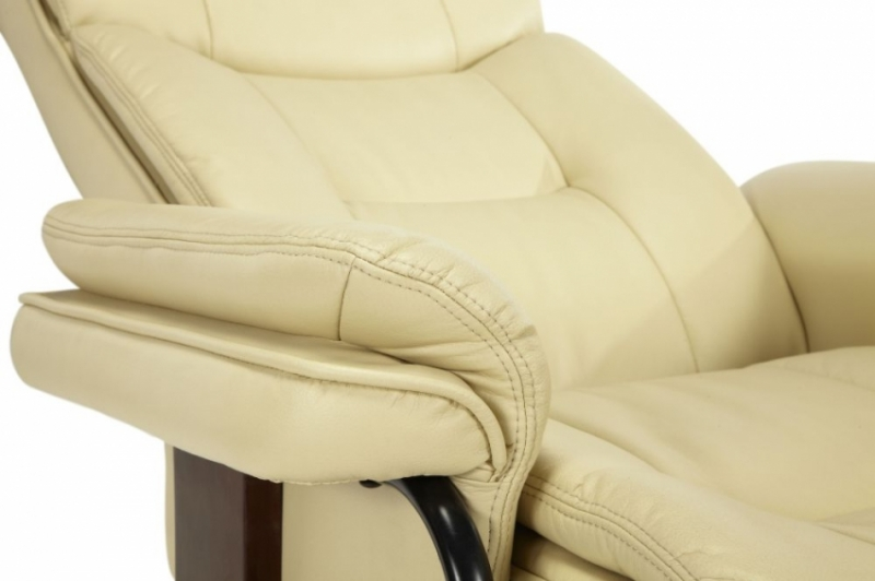 Serene Moss Cream Faux Leather Recliner Chair