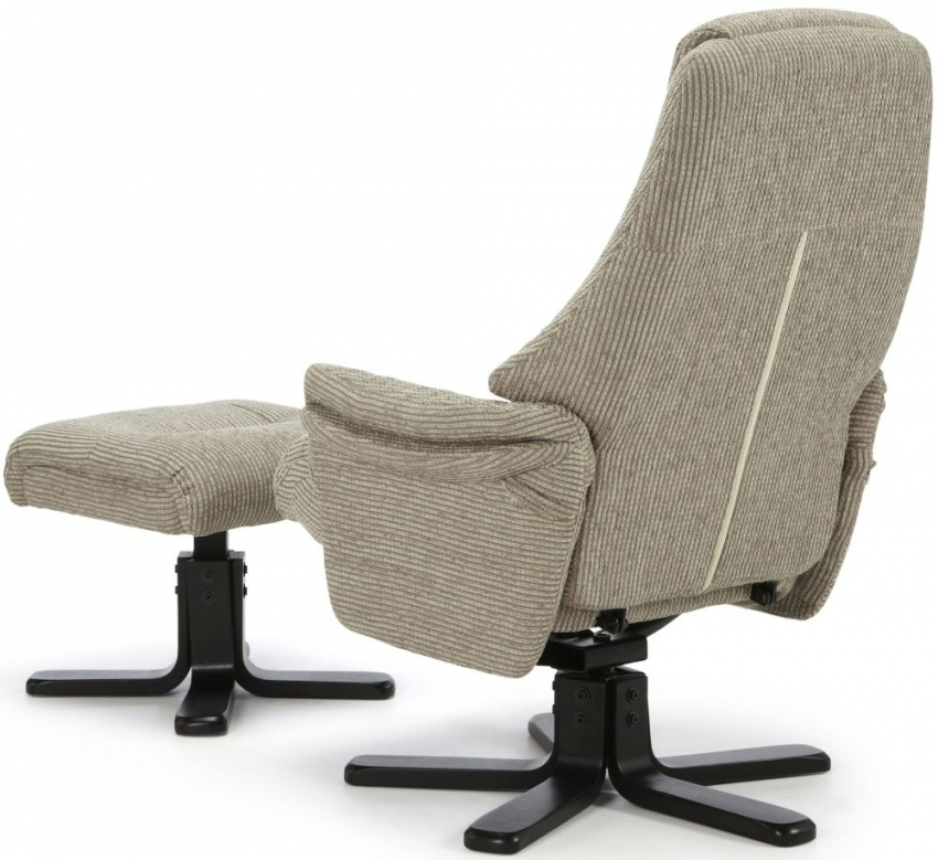 Serene Mysen Latte Fabric Recliner Chair