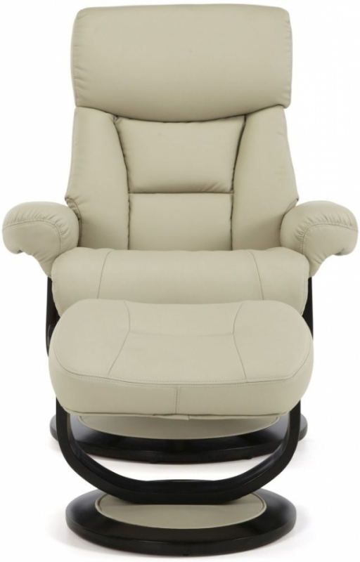 Serene Risor Taupe Bonded Leather Recliner Chair