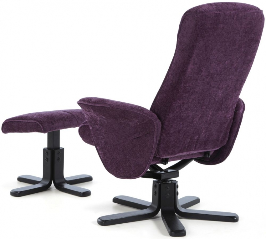 Serene Stavern Amethyst Fabric Recliner Chair