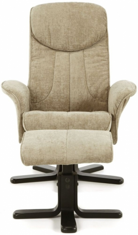 Serene Stavern Mink Fabric Recliner Chair