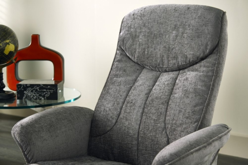 Serene Stavern Steel Fabric Recliner Chair