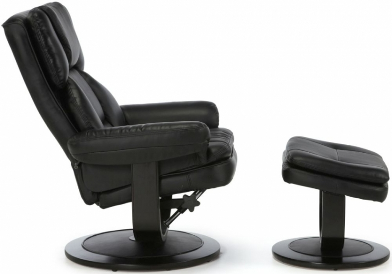 Serene Vardo Black Bonded Leather Recliner Chair