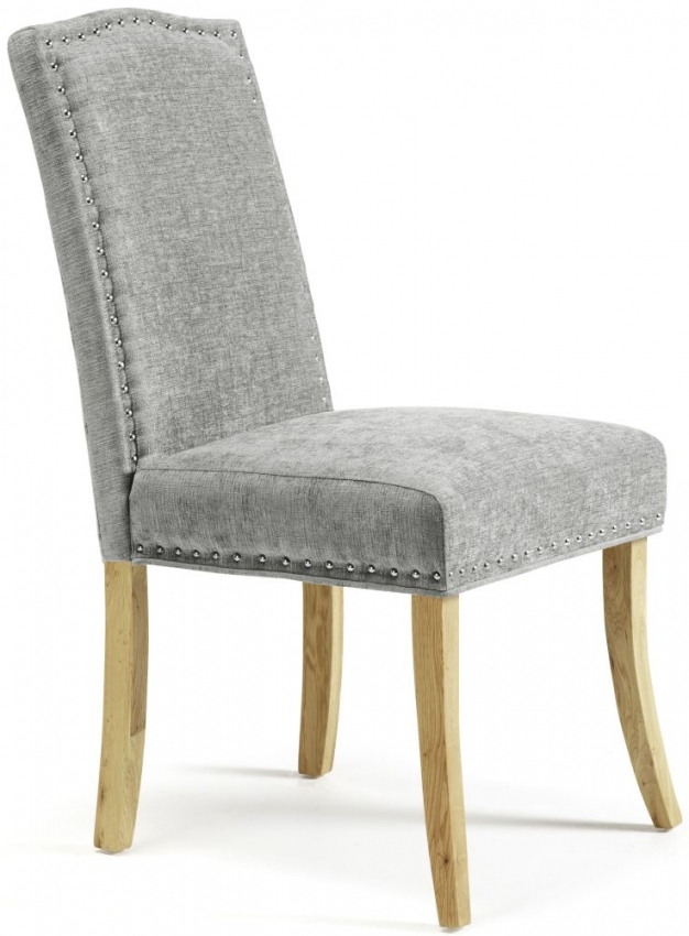 Serene Knightsbridge Steel Fabric Dining Chair (Pair)