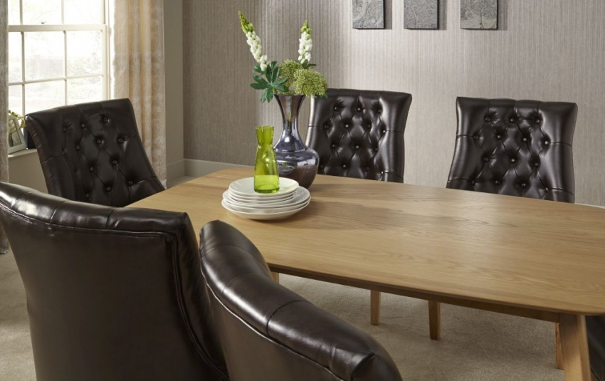 Serene Westminister Oak Dining Table - 150cm Fixed Top