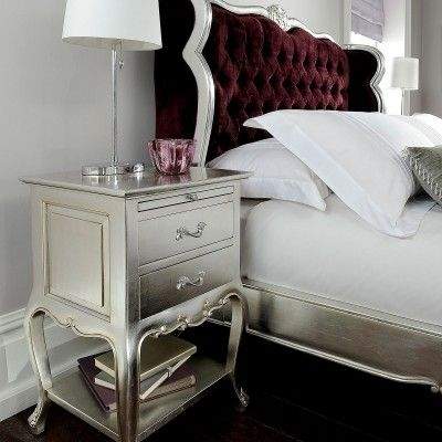 Willis and Gambier Cristal Silver Leaf Bedside Cabinet