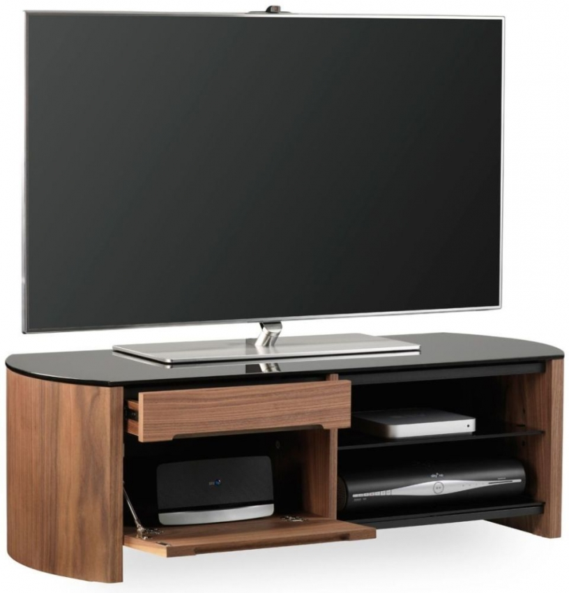 buy alphason finewood walnut tv cabinet fw1100cb online cfs uk. Black Bedroom Furniture Sets. Home Design Ideas