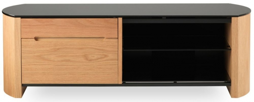 Alphason Finewood  Light Oak TV Cabinet - FW1100CB
