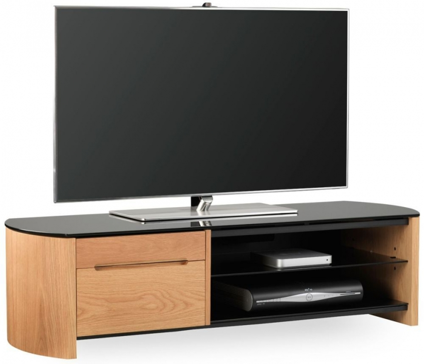 Alphason Finewood  Light Oak TV Cabinet - FW1350CB