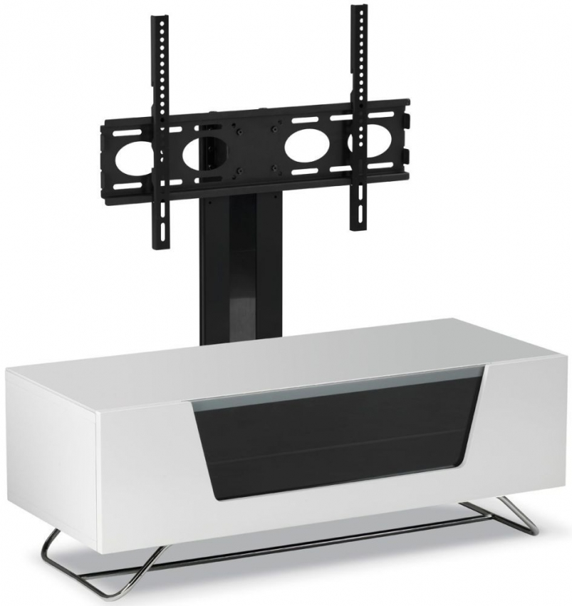 Alphason Chromium 2 White Cantilever TV Cabinet for 50inch - CRO2-1000BKT-WH