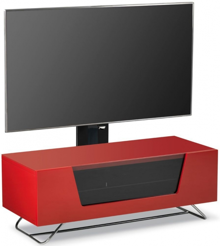 Alphason Chromium 2 Red Cantilever TV Cabinet for 50inch - CRO2-1000BKT-RE