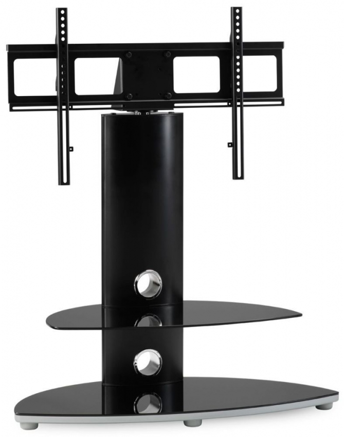 Alphason Osmium Black Chrome Cantilever TV Stand - OSMB800-2-S