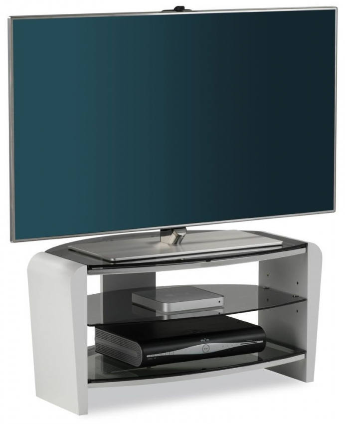 Alphason Francium White TV Unit - FRN800-3WHT-SK