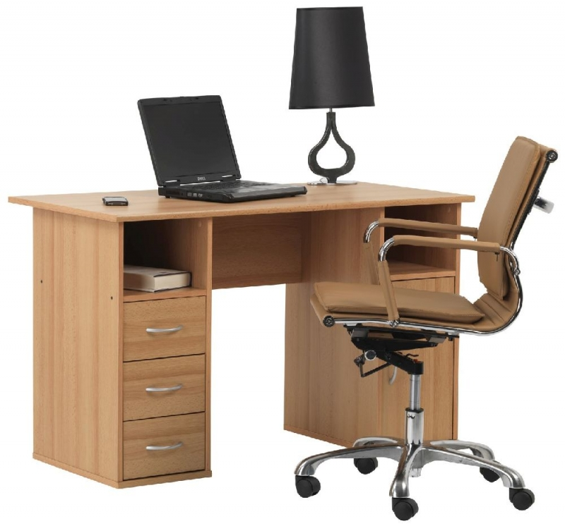 Alphason Maryland Beech Computer Desk - AW12010