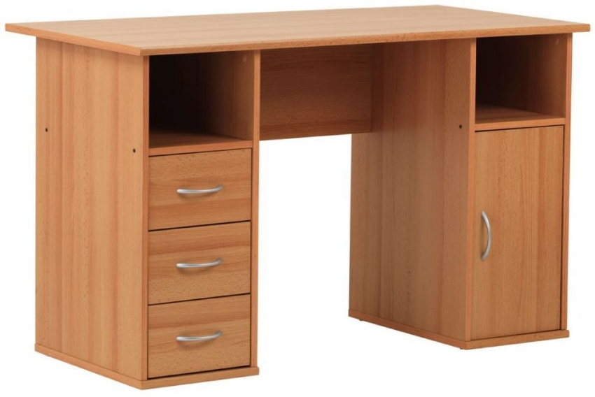 Alphason Maryland Beech Panel Workstation - AW12010