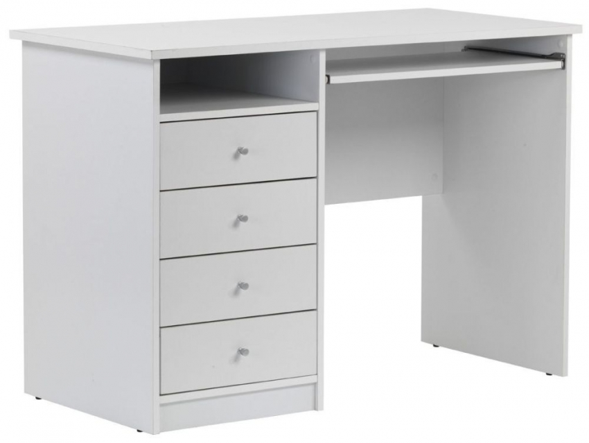 Alphason Marymount White Panel Workstation - AW22813-WH