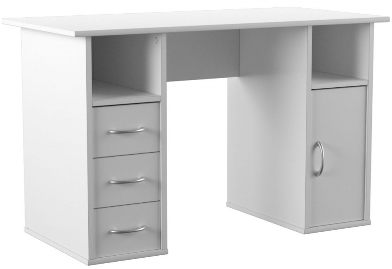 Alphason Marymount White Student Desk - AW22813-WH