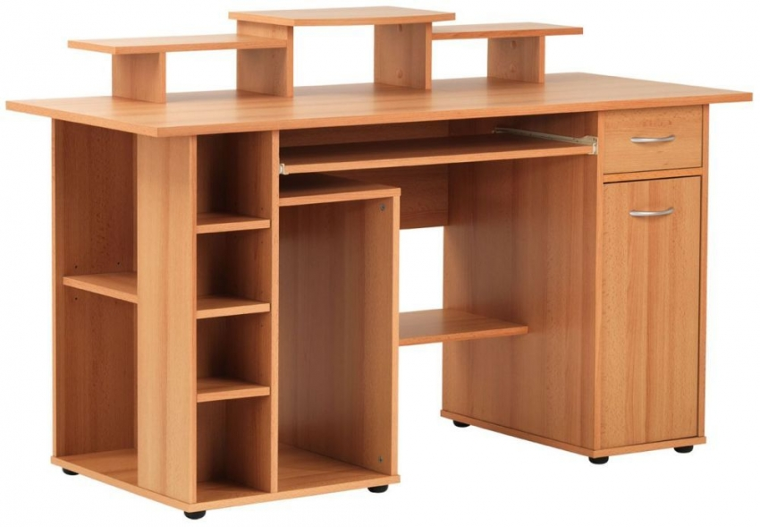 Alphason San Deigo Beech Panel Workstation - AW12004