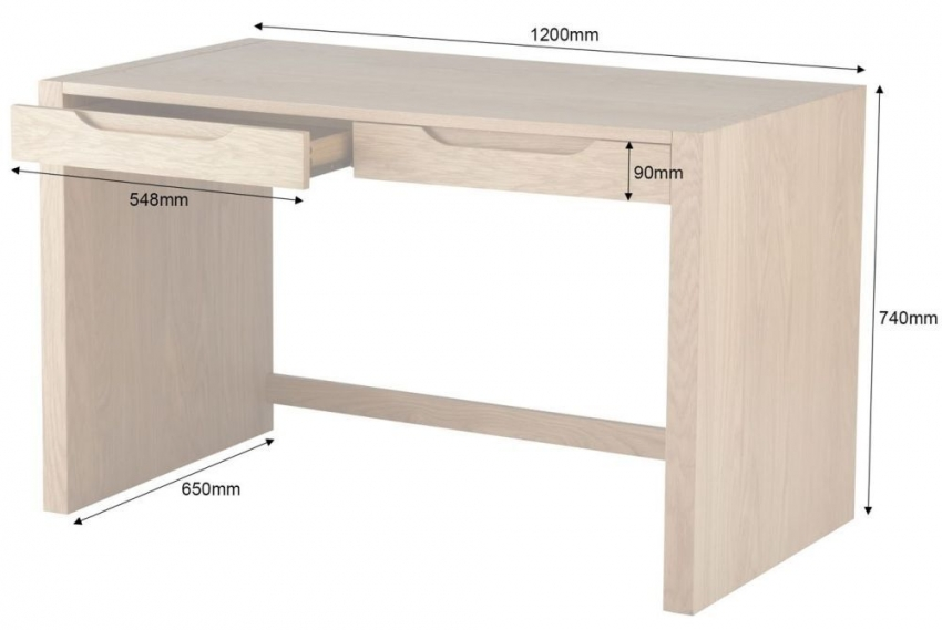 Alphason Butler Oak Premium Wood Furniture - AW75022