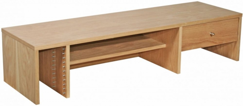 Alphason Oak Desktop Hutch