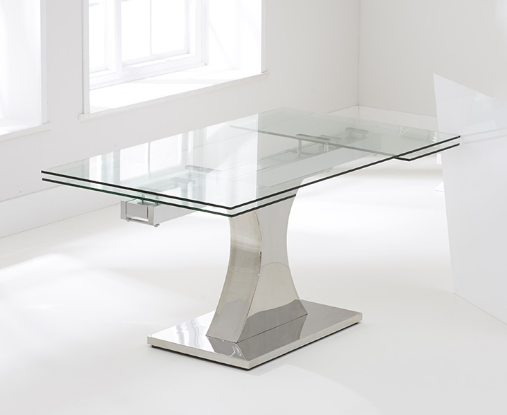 Mark Harris Amber 160cm Glass Extending Dining Table with  : 4Mark Harris Amber 160cm Glass Extending Dining Table with 6 Hereford Z Black Chairs 01 from choicefurnituresuperstore.co.uk size 733 x 600 jpeg 102kB