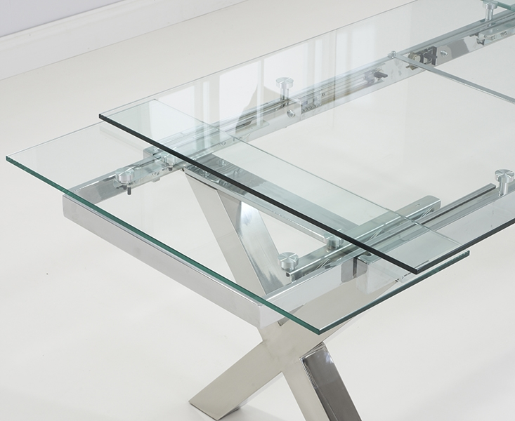 Mark Harris Cilento 160cm Glass Extending Dining Table