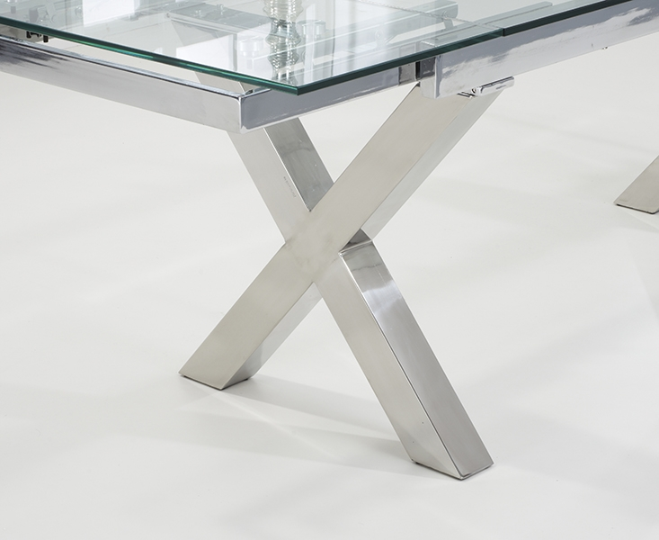 Mark Harris Cilento Glass Dining Table - 160cm Extending