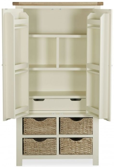 Global Home Oxford Larder Unit - Oak and Buttermilk Painted