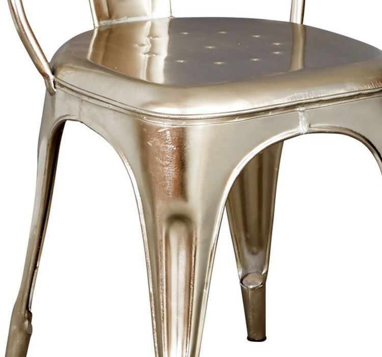 Indian Hub Cosmo Industrial Silver Dining Chair (Pair)