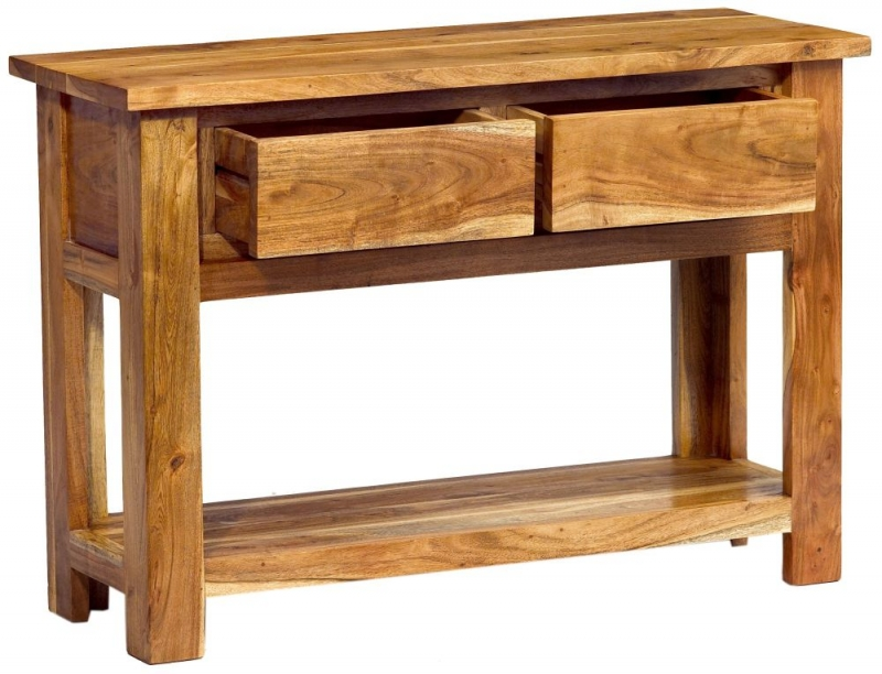 Indian Hub Metro Acacia Console Table