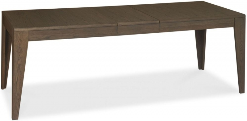 Bentley Designs City Weathered Oak and Soft Grey Dining Table -  6-8 Seater Extending