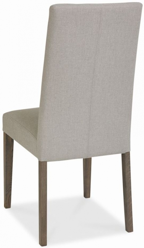 Bentley Designs City Weathered Oak Dining Chair - Pebble Grey Taper Back (Pair)